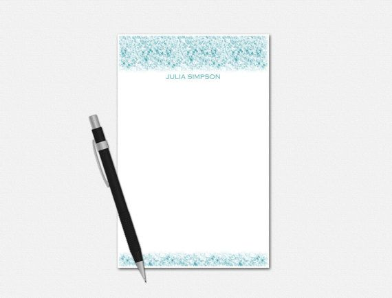 Personalized Notepad  Personalized Stationery  by VLHamlinDesign