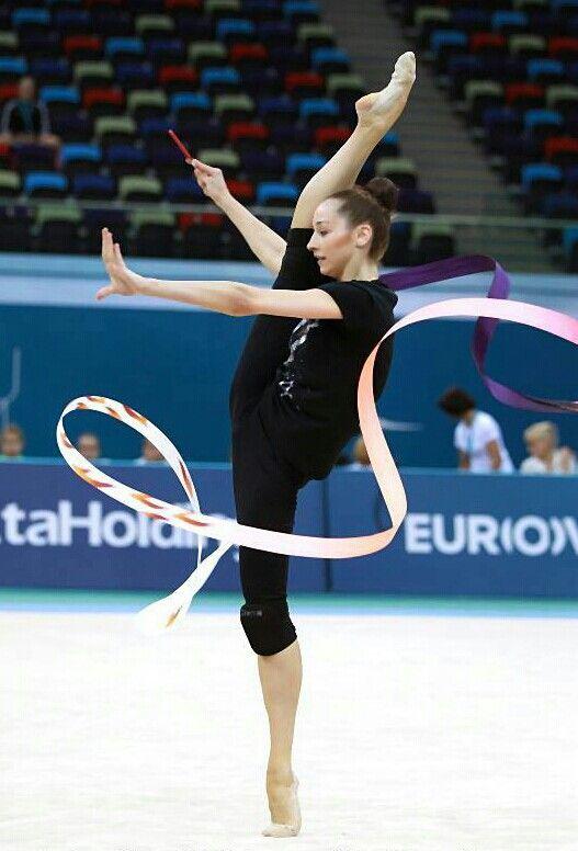 #Katsiaryna Halkina (Belarus) #training# European Championship 2014 in Baku, Azerbaijan #June 11, 2014 #