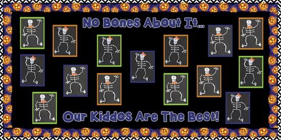 Skeleton Craft for Kids and Halloween Bulletin Board Idea