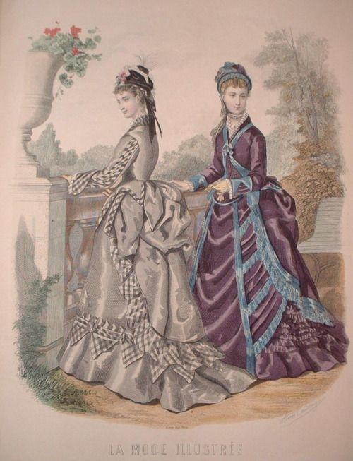 1877lamodeillustree: 1870s fashion plates   Victorian