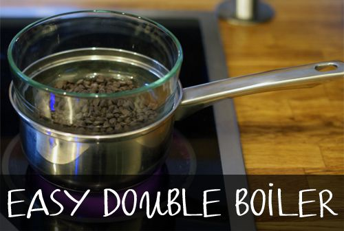 Easy Double Boiler Without a Double Boiler at easyhomemade.net