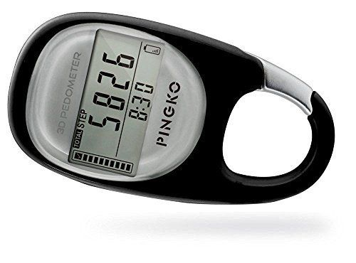 PINGKO 3D Carabiner Pedometer Activity Fitness Tracker