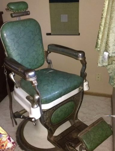 Great Vintage Patina Theo A Kochs Barber Shop Chair Ready For Your  Restoration | Barber Shop Chairs, Shops And Patinas