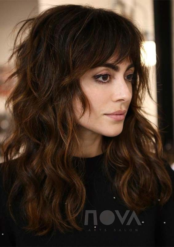 Amazing Textured Shaggy Long Hairstyles Ideas For 2019 Voguetypes Long Hair Styles Long Shag Haircut Long Hair With Bangs