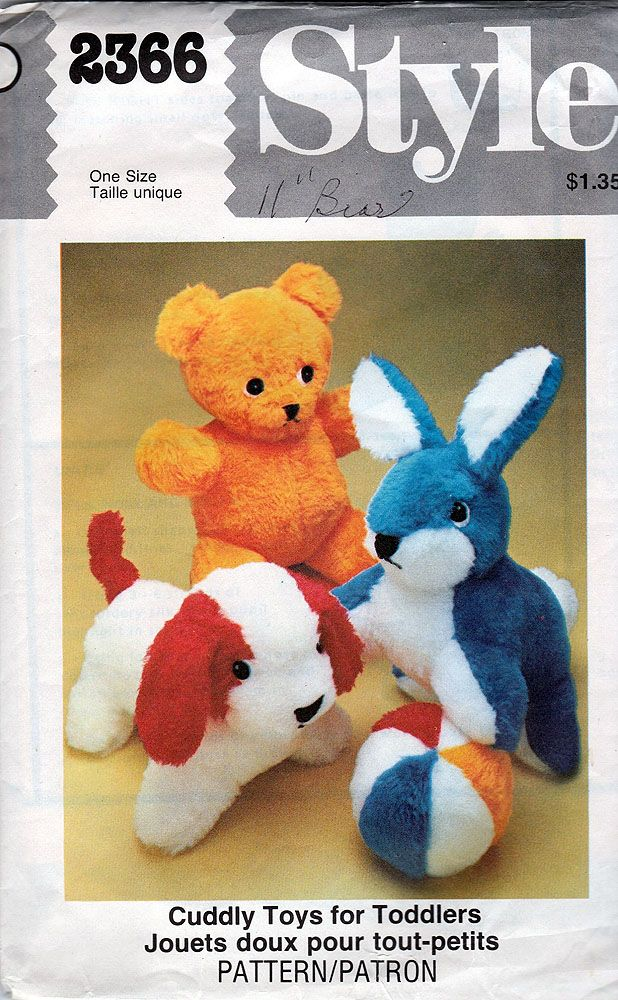 34 best Vintage Stuffed Animal Patterns images on Pinterest ...