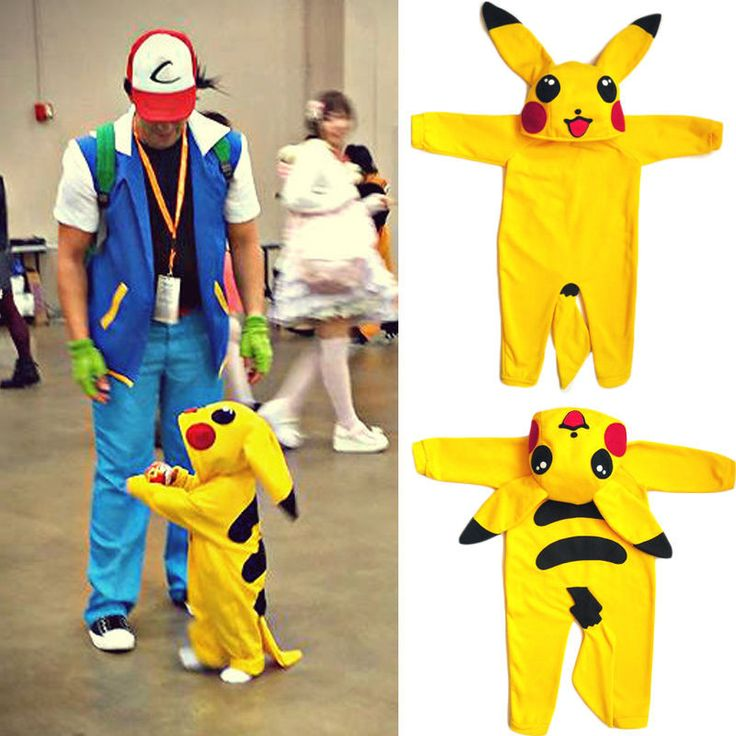 NewCute Baby Clothes Infant Newborn Baby Boys Girls 3D Cartoon Pikachu Costume Long Sleeve Cotton Romper Playsuit Hooded Rompers