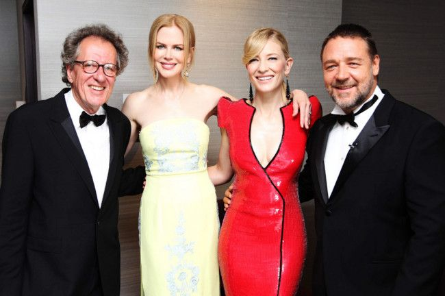 Geoffrey Rush, Nicole Kidman, Cate Blanchett and Russell Crowe at the 2nd AACTA Awards.
