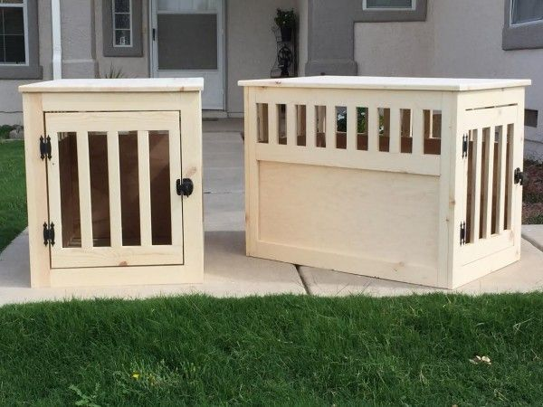 Pair of wood pet kennels | Do It Yourself Home Projects from Ana White...