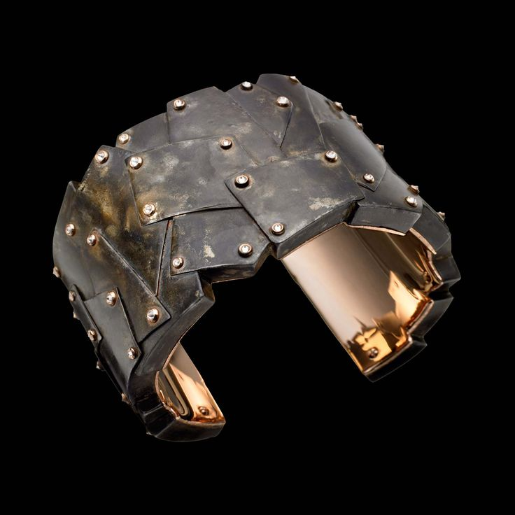 Secret Weapon: Fonderie 47 creates bold jewellry from melted-down AK47 assault rifles from conflict zones in Africa. The base metal is transformed into a unique wearable piece. Phoenix cuff, $70K, by James de Givenchy, Fonderie47.com