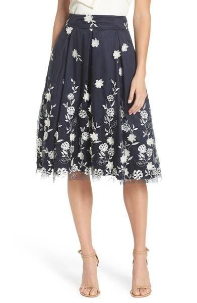 51a92576 Main Image - Eliza J Embroidered A-Line Skirt | clothes i want ...