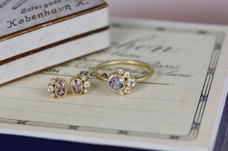 Belle de Jour ring and studs.