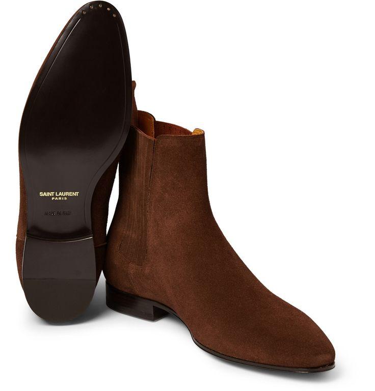 Saint Laurent - Suede Chelsea Boots | MR PORTER