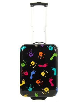 Valise cabine rigide Kids Empreintes 50 cm Noir