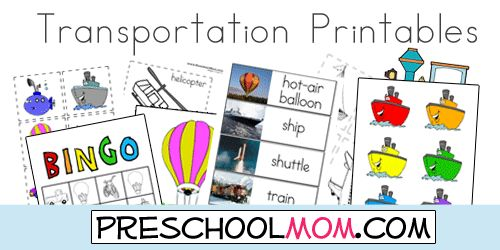 108 Best Images About Preschool Transportation Theme On