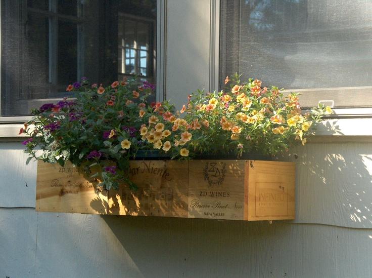 Wine Crate Window Box. $55.00, via Etsy.