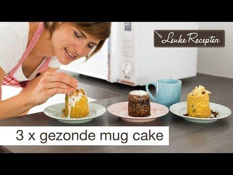 Video: 3 x gezonde cake mug variant: 3 minuten brownie  Ingrediënten: 3 el bloem 4 el cacao 6 el melk 3 el kokosbloesemsuiker 1,5 el gesmolten kokosolie 1/4 geraspte appel 1/2 tlvanille extract 1/4 theelepel bakpoeder  Roer alle ingrediënten goed door elkaar en zet het 1,5 min. in de magnetron.