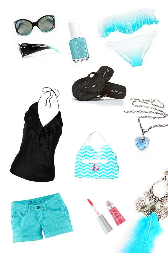 Aqua beach clothes