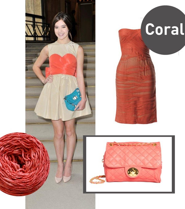 Coral: one of the colours of BettaKnit Spring-Summer 2012 collection (http://blog.bettaknit.com/products/the-spring-summer-2012-yarn-collection)