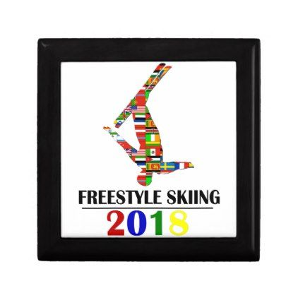 2018 FREESTYLE SKIING KEEPSAKE BOX - winter gifts style special unique gift ideas