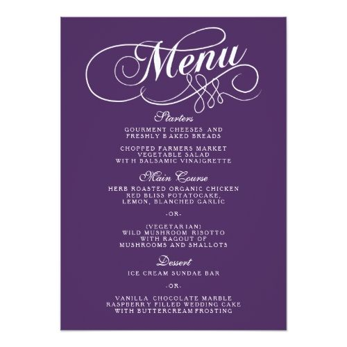 542 best Typography Wedding Invitation images on Pinterest - event menu template