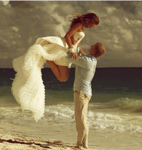 Beach wedding shoot
