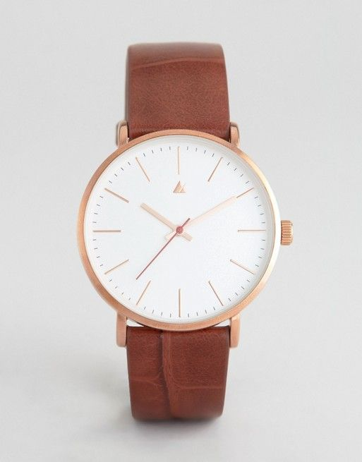 ASOS Clean Dial Rose Gold Watch