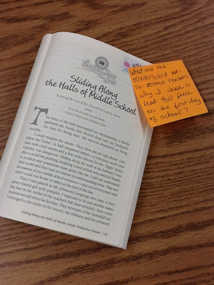 9.6.12 - perfect read aloud for the first day of 7th grade