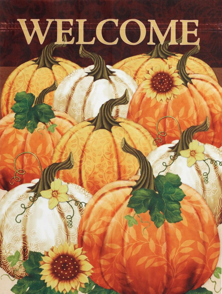 This decorative #harvest #flag is great way to say hello to Autumn!