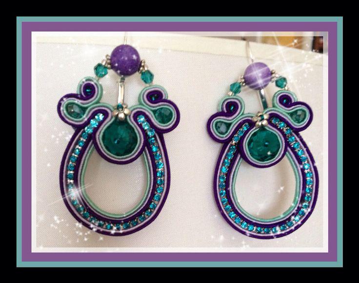 Orecchini soutache purple-blue