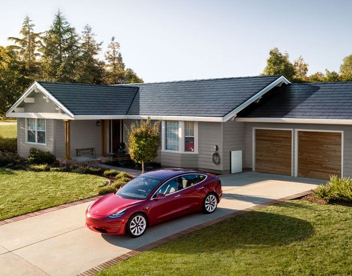 Tesla S Solar Roof Tiles Are Hydrographically Printed To Resemble French Slate Solar Roof Tesla Solar Roof Solar Roof Tiles
