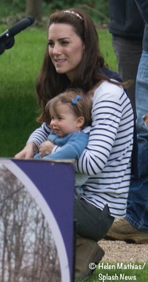 Catherine, Duchess of Cambridge along with Princess Charlotte spend the day at the Houghton International Horse Trials at King's Lynn, Norfolk on May 28, 2016.