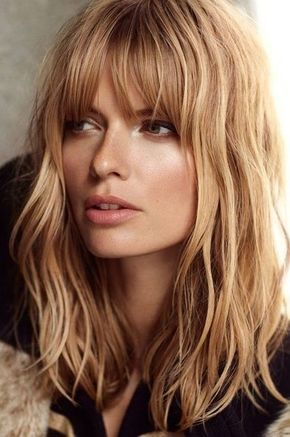 Long Shaggy Hairstyle With Bangs for Blond Hair