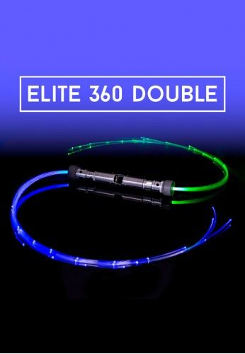 Elite 360 Double Space Whip | Fiber Optic Flow Whip Rave