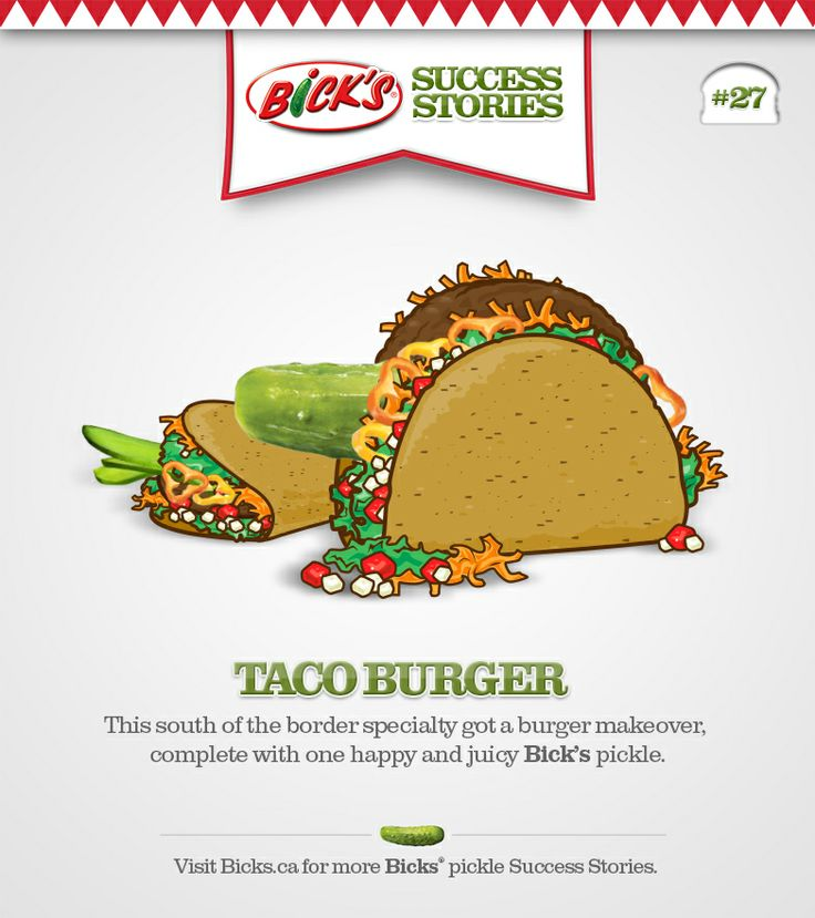 Bick's® Success Stories. See some of the best burgers that Bick's® pickles have called home.
