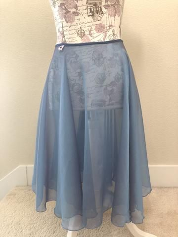 e77350896e 【New】【Iridescent blue and purple chiffon】Rehearsal long flowy skirt Flowy  Skirt