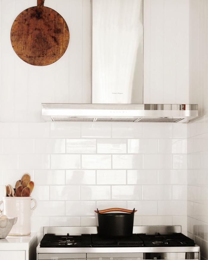 House Call: In The Kitchen And Beyond With Kara Rosenlund. Black Rosenlund White Subway TilesWhite Tile BacksplashRange ...