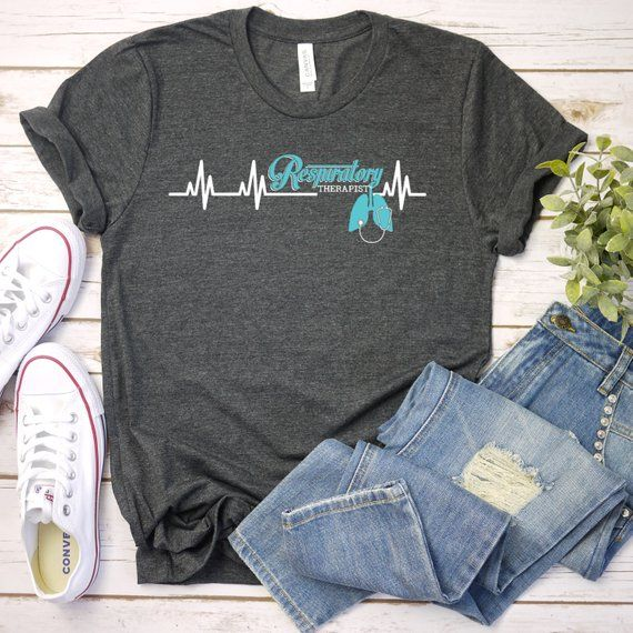 Long Sleeve Shirt In Prink Respiratory Therapy Heartbeat Tee Shirt