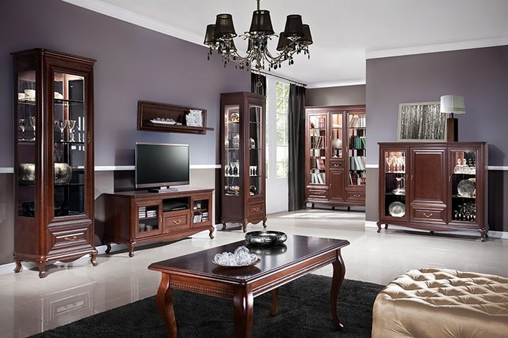 Гостиная мебель Verona Taranko (Польша) из натурального дерева в коричневом цвете #мебель #гостиная