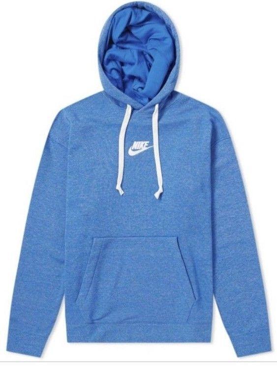 38cf581612 NIKE HERITAGE PULLOVER HOODY Hoodie Signal Blue Heather Large Mens L 928437  403 #Nike #Hoodie