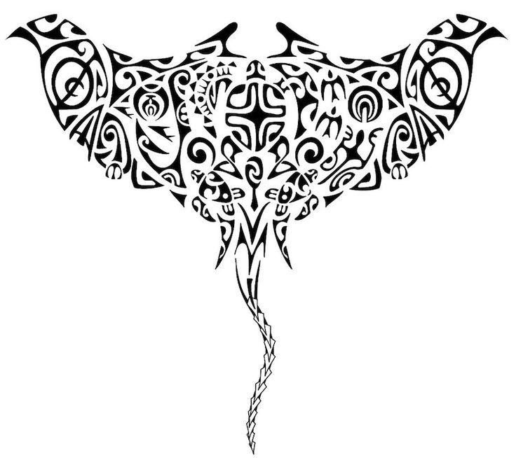 18 best maori tribal tattoo manta ray turtles images on pinterest manta ray tattoos tatoos - Tatouage maorie signification ...