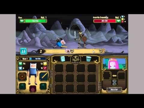Juego de Finn y Huesos | Hora de Aventura | GamePlay cartoon network