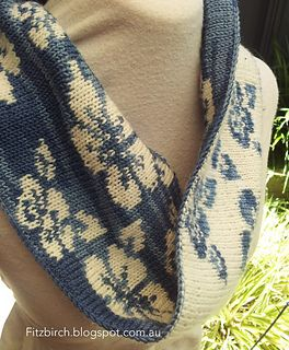 Double Knit Floral Cowl by Louise Fitzpatrick
