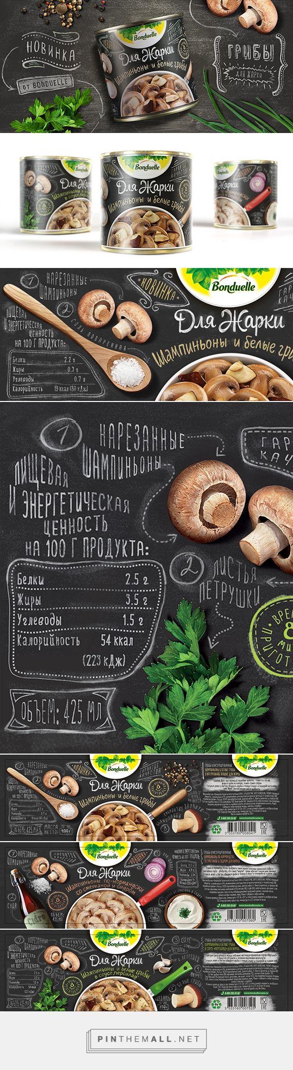 Bonduelle Mushrooms on Behance - created via https://pinthemall.net