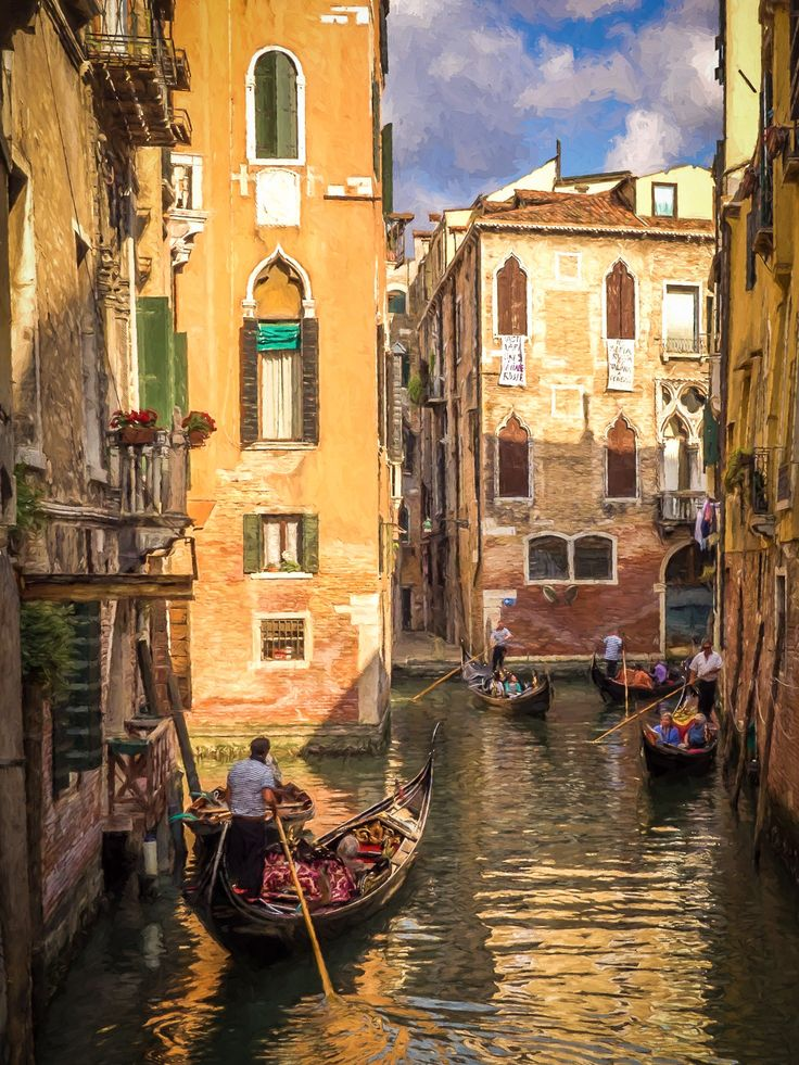 Venice (Photo as Painting)   by Bob Radlinski