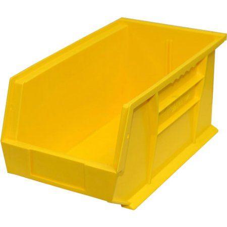 stackable bins yellow