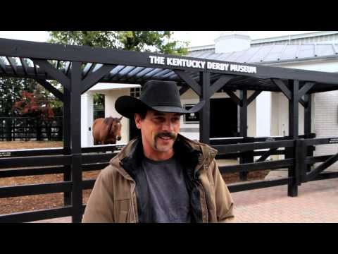 Skeet Ulrich and his Horseshoe Mustache (video by Kentucky Derby Museum 10/18/12)