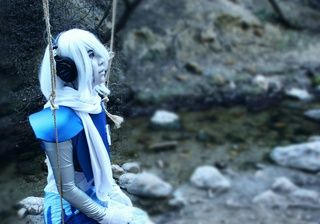 """""""There was this awesome swing by the water where we were photo shooting~"""" skydendrincosplay.paigeeworld.com #undertale #napstablook #napstabot #undertalecosplay #cosplay ~Moonie"""