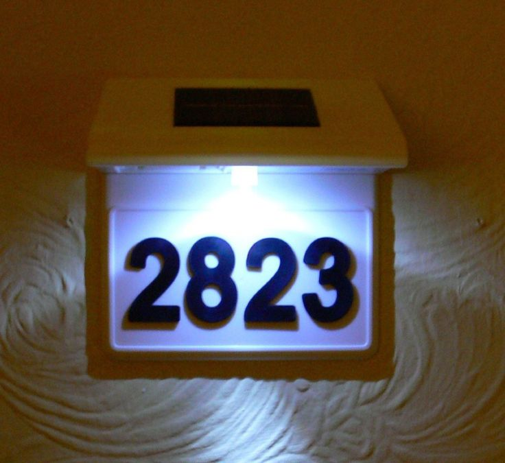 Best 25 Illuminated house numbers ideas on Pinterest DIY