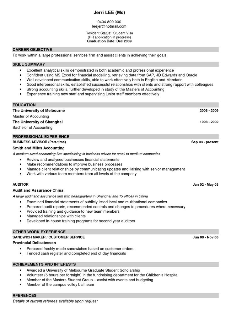 Sample Of A Winning Resume Resume Samples For All Professions And