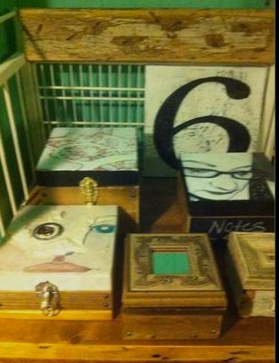 My art boxes.